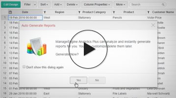 Cómo crear un resumen y una vista de tabla dinámica utilizando Analytics Plus